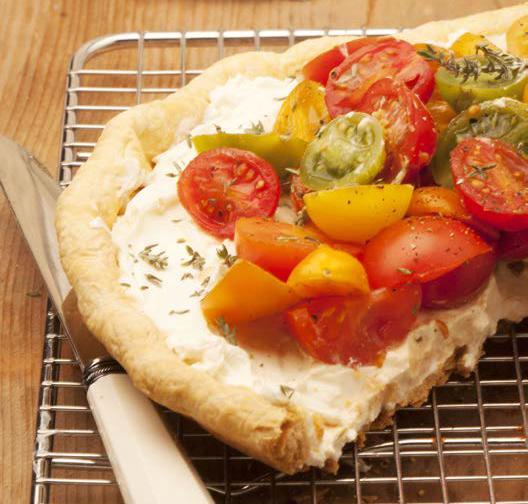 Torta salata con pomodorini
