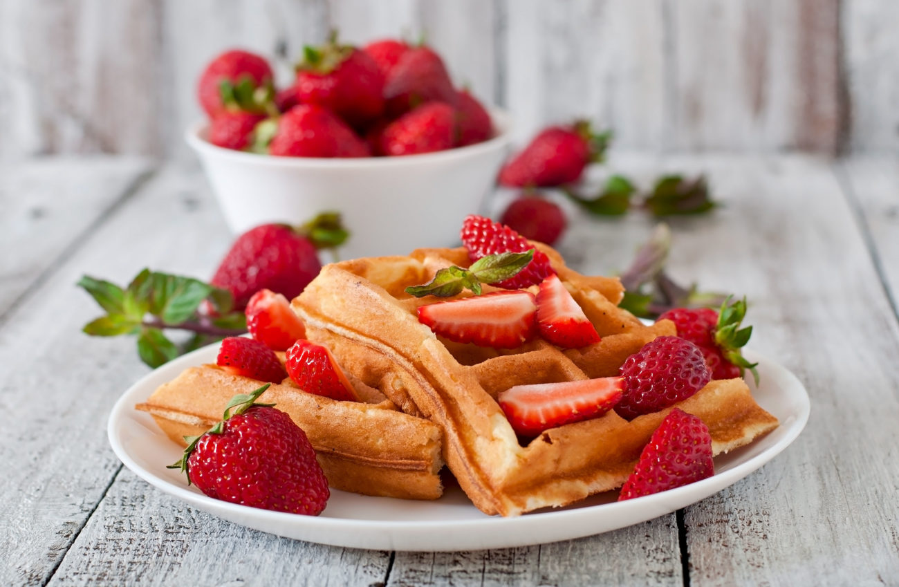 Waffles alle fragole