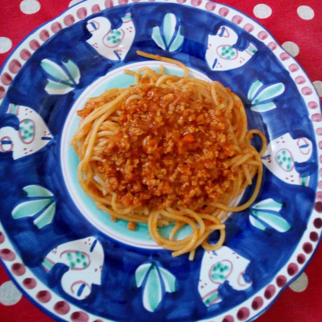 Spaghetti al ragù di soia